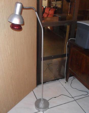 Slimline Infra red free standing lamp